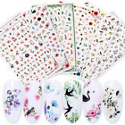 3D Nail Stickers Flower Animal Fruit Pattern Self-adhesive Nail Transfer Decals