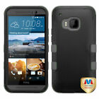 For HTC One M9 TUFF ARMOR Case Rugged Hard Cover Protector