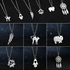 Chaem Stainless Steel  Women Hollow Animal Silver Pendant Necklace Jewelry Gifts