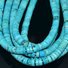 "16"" Blue Turquoise Heishi Gemstone Beads 4mm,6mm,8mm,10mm,12mm"