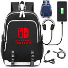 Nintendo Swithch Logo Backpack Schoolbag for boys girls USB Charging Travel Bags