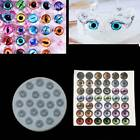 DIY Doll Cartoon Figure Cat Round Eyes Resin Mold Art Craft Jewelry Making Tools