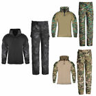 Kids Tactical Combat Uniform Sets Boys Girls Airsoft Shirt Pants Military BDU Ca