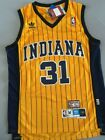 Men's Reggie Miller Indiana Pacers Throwback Swingman Jersey Yellow Size S-XXL