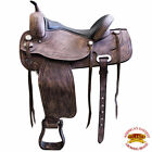 15 in 16 in 17 in 18 in Western Horse Treeless Saddle Leather Trail U-05RO