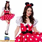 RED SEXY MINNIE SPOTTY MOUSE ANIMAL ADULT UK 6-24 Ladies Fancy Dress Costume