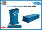 EXTRA HEAVY DUTY BLUE RUBBLE BAGS SACKS BUILDERS BAGS HIGH STRENGTH 30kg+