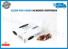 Clear Plastic Polythene Food Grade Poly Bags Dispenser Boxed All Sizes Available