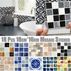 18x Mosaic Tile Stickers Transfers Kitchen Bathroom Marble Effect Cover Up Decal