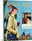 Solid-Faced Canvas Print Wall Art entitled 1940's UK Woman's Own Magazine Cover