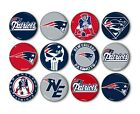 "New England Patriots Button Badge Pin Pinback Magnet Flatback 1.25"" Gift Set $8.99 USD on eBay"