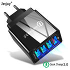4 Port Fast Quick Charge QC3.0 USB Hub Wall Charger Power Adapter US EU UK Plug