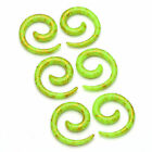 Acrylic Expander Spiral Snail Stretchers Flesh Ear Tunnel Earring Taper Piercing