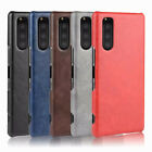 For Sony Xperia 5 Retro Leather Fabric Coated Hard case Back Skin cover