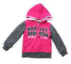 Harley-Davidson Girls Youth B&S Logo Sherpa Lined Full Zip Pink Hoodie $19.99 USD on eBay