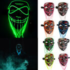 Kyпить Light Up Stitches LED Mask Costume Halloween Rave Cosplay Party Tailorable Beard на еВаy.соm