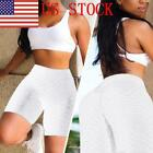 US Women's High Waist Yoga Shorts Pants Tummy Control Workout Leggings Pants 03