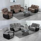POSTANA HIGH BACK JUMBO CORD FABRIC RECLINER 3 + 2 + 1 SOFA ARMCHAIR SET SUITE