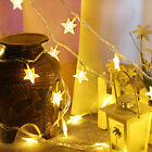 Star Led Lights Battery Operated Fairy String Indoor Party Home Lamp Decor Uk