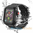 For Apple Watch Series 4/5 40/44mm Shockproof Case Cover Screen Protector Black