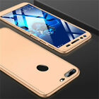 For Huawei Y5 Y6 Y7 Pro Y9 2018 / 2019 360° Full PC Cover Case+Tempered Glass
