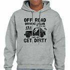 Off Road Driving Club Mens Funny 4X4 T-Shirt Jeep Defenders Hoodie