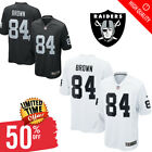 Men's Oakland Raiders Antonio Brown #84 Black/White Game Stitched Jersey 2019 on eBay