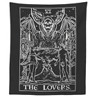 The Lovers Tarot Card Tapestry Gothic Halloween Home Decor Grim Reaper Wall Art