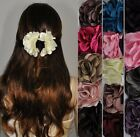 Hair Clip Flower Satin Braid Holder Accessories Colorful Colors