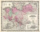 1862 Johnson Map of Northern Germany ( Holstein and Hanover )