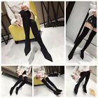 New pointed stiletto heels socks women's boots over the knee boots stockings