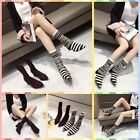 New women's booties thick with high-heeled elastic stockings boots striped boots