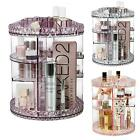 MAKEUP COSMETIC ORGANISER STORAGE BOX SHELF 360 DEGREE ROTATING DISPLAY ACRYLIC