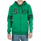 Harry Potter Slytherin Fleece Zip-Up Hoodie Adult Green Sweater Licensed SM-XXL