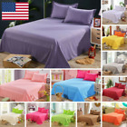 Bedding Sheet Bed Flat Sheets Soft Skin-friendly Coverlet Pillowcase Queen Size image