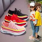Kids Mesh Sneakers Lace Up Athletic Trainers Tennis Shoes Sizes Youth 95 25