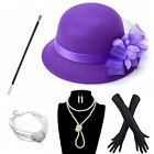 1920S Derby Hat Outfit Set Tea Flapper Party For Great Gatsby