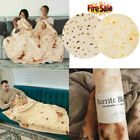"48-60""Round Taco Burrito Blanket Tortilla Soft Flannel Wrap Picnic Blanket Throw image"