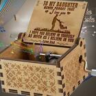 FixedPriceyou are my sunshine-wooden engraved music box gift for mom/dad to daugthter/son