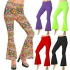 Hippie 60s 70s Flower Power Fancy Dress Costumes Flares Adult Psychedelic Ladies