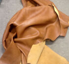 WS03 Leather Cow Hide Cowhide Upholstery Craft Fabric Honey Brown