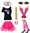 Women I Love The 80's T-shirt Outfit 1980s Costume Accessories $27.99 USD on eBay