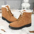 Womens Ladies Warm Snow Ankle Boots Army Combat Flat Grip Sole Fur Lined Shoes