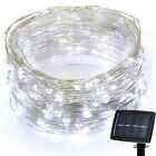 100 LEDs 10M Solar Waterproof LED Copper Wire String Light Wedding Xmas Decor RK