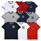 Tommy Hilfiger T-shirt Mens Short Sleeve Embroidered H Logo Graphic Crew Neck  image