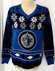 WINNIPEG JETS Womens Sweater Size Large Ugly Christmas Front and Back Logos New $22.21 USD on eBay