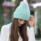 Women Winter Rabbit Fur Hat Head Wrap Beanie Cap Warm Soft Accessories