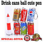 Fashion drink cans ball pen cute telescopic ink creative gift /1 piece free ship $1.96  on eBay