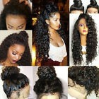 USA Fashion Curly Kinky Afro Wig Heat Resistant Synthetic Hair Long Wavy Wigs