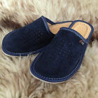 Womens Soft Suede Leather Slip On Slippers Size 3 4 5 6 7 8 Ladies Mule Shoe